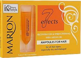 Духи, Парфюмерия, косметика Ампулы для волос с аргановым маслом - Marion Anti-Hair Loss 7 Effects