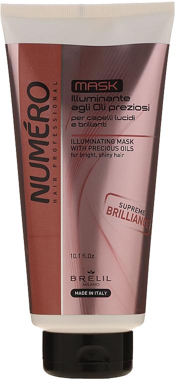 Маска для придания волосам блеска с ценными маслами - Brelil Numero Illuminating Mask With Precious Oils