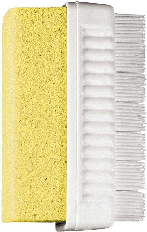 Щетка-пемза комбинированная на блистере, желтая - Titania