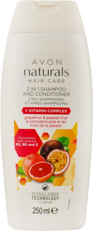 Шампунь-ополаскиватель 2 в 1 с витаминным комплексом - Avon Naturals Hair Care