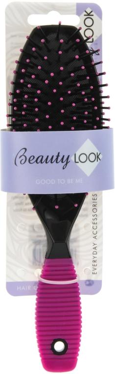 Расческа для волос массажная, розовая - Beauty Look