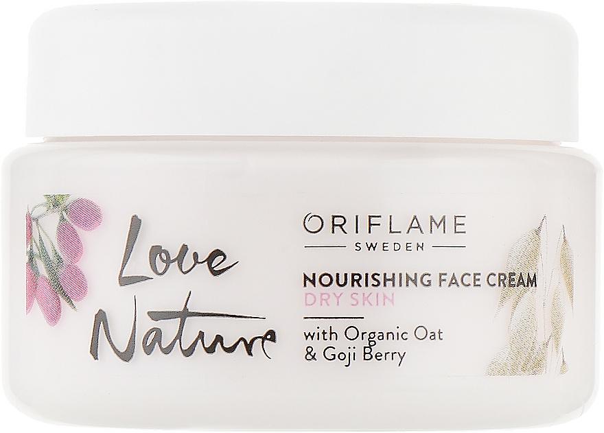 Питательный крем для лица с органическим овсом и ягодами годжи - Oriflame Love Nature