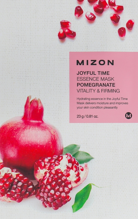 "Тканевая маска для лица ""Гранат"" - Mizon Joyful Time Essence Mask"