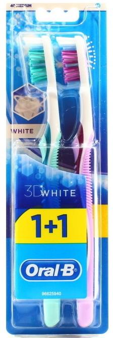 Набор зубных щеток, 40 средней жесткости - Oral-B Advantage 3D White (thbr/1 + thbr/1)