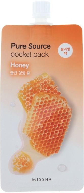 Ночная маска для лица с экстрактом меда - Missha Pure Source Pocket Pack Honey