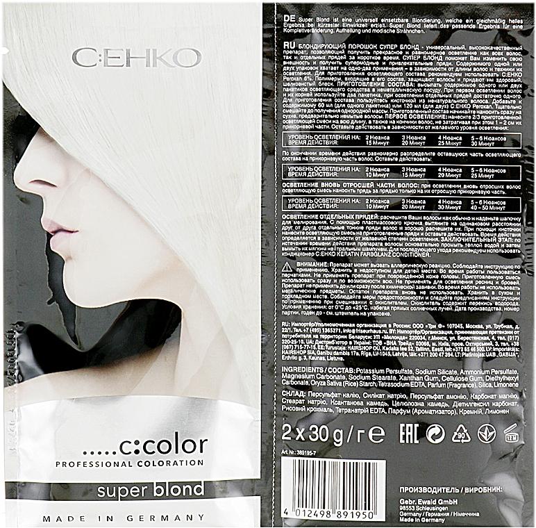 Блондирующий порошок без пыли - C:EHKO Color Cocktail Super Blond