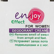 Духи, Парфюмерия, косметика Эко-крем-дезодорант - Enjoy & Joy For Women Deodorant Cream (пробник)