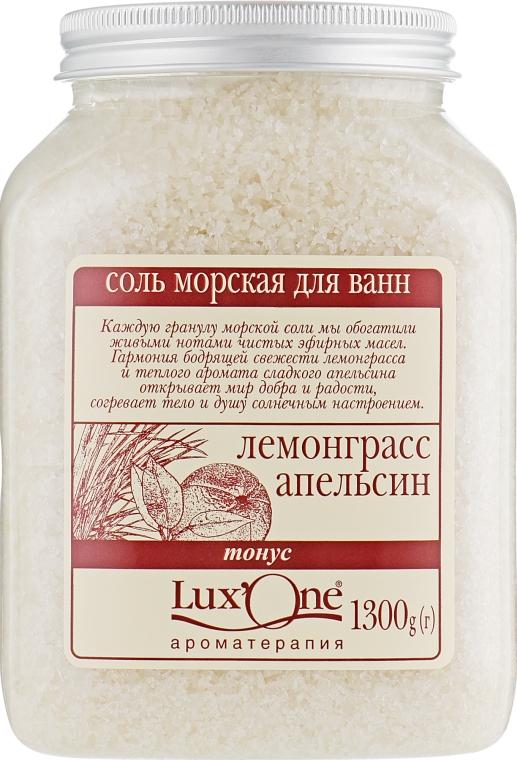"""Соль морская для ванн """"Тонус"""", лемонграсс-апельсин - Ароматика Lux'One"""