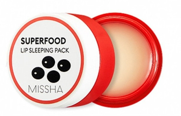 Ночная маска для губ - Missha Superfood Black Bean Lip Sleeping Pack