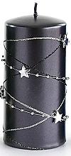 Духи, Парфюмерия, косметика Декоративная свеча, черная, 7x10 см - Artman Christmas Garland