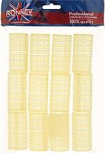 Духи, Парфюмерия, косметика Бигуди на липучке 32/63, желтые - Ronney Professional Velcro Roller