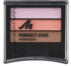 Духи, Парфюмерия, косметика Тени для век - Manhattan Eyeshadow Trio Perfect Eyes