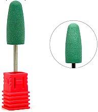 Духи, Парфюмерия, косметика Полировщик силиконовый большой конус закругленный, средний абразив, зеленый - Tufi Profi