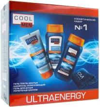 Духи, Парфюмерия, косметика Косметический набор №1 - Cool Men Ultraenergy (gel/200ml + sh/250ml + gel/250 + cr/50 + towel)