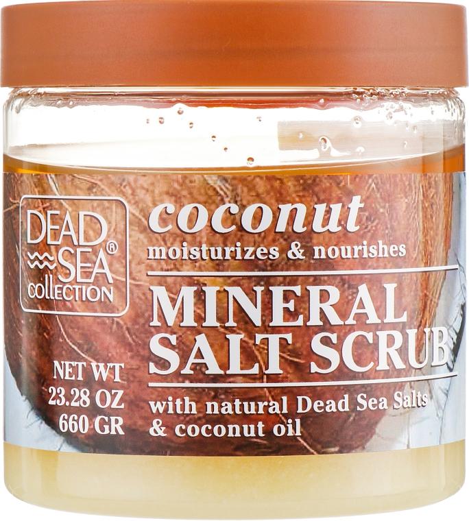 Скраб для тела с минералами Мертвого моря и маслом кокоса - Dead Sea Collection Coconut Salt Scrub