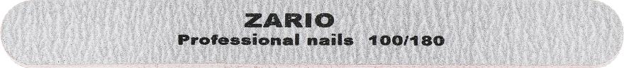 Пилка для ногтей, прямая, 100/180 - Zario Professional