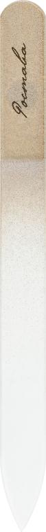 Пилочка для ногтей, хрустальная золотая, 135мм, бордовый чехол - Ростава