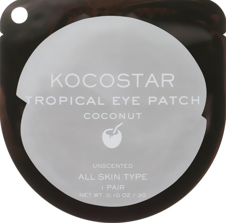 """Гидрогелевые патчи для глаз """"Тропические фрукты. Кокос"""" - Kocostar Tropical Eye Patch Coconut — фото N1"""