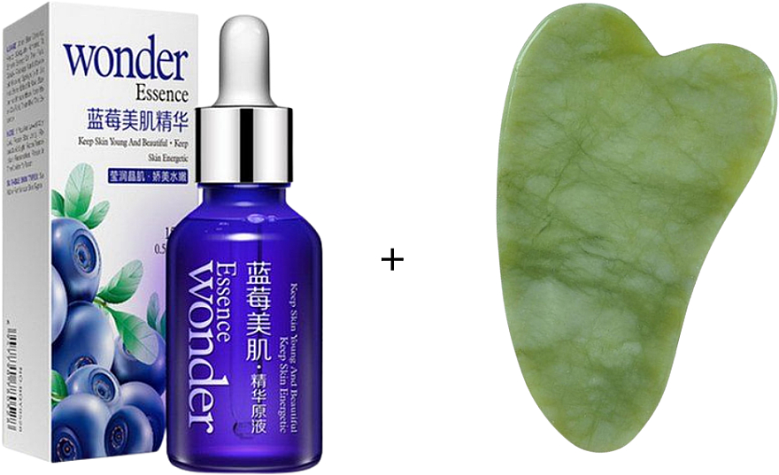 Набор - Bioaqua (ser/15ml + f/massager/1pc)