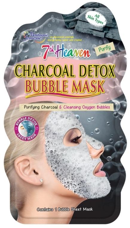 "Пузырьковая маска для лица ""Древесный уголь"" - 7th Heaven Charcoal Detox Bubble Mask"