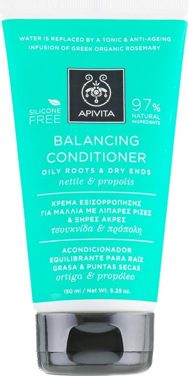 Кондиционер нормализующий для жирных корней и сухих секущихся кончиков с прополисом и крапивой - Apivita Balancing Conditioner For Oily Roots & Dry Ends With Nettle & Propolise