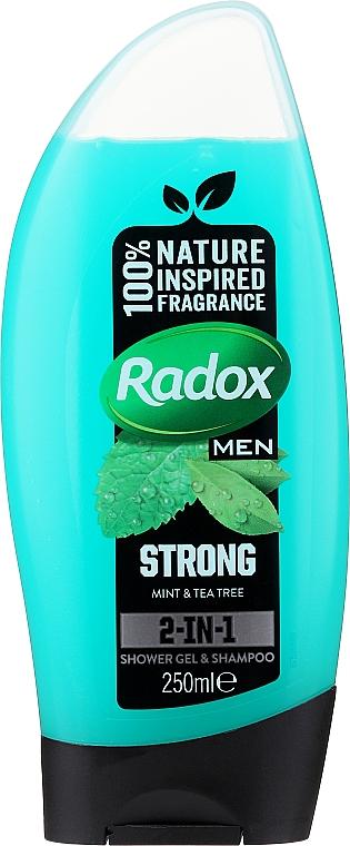 """Мужской гель для душа 2 в 1 """"Ощути силу"""" - Radox Men Feel Strong Shampoo and Shower Gel"""
