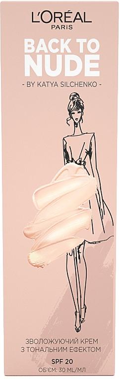 Тонирующий увлажняющий крем для лица - L'Oreal Paris Back to Nude by Katya Silchenko Skin Paradise