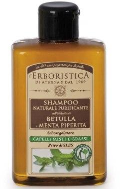 Шампунь с экстрактом берёзовых почек и мяты - Athena's Erboristica Shampoo With Extract Of Birch And Mint