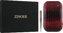 Духи, Парфюмерия, косметика Маникюрный набор MSFE-802-1 S, лаковый, бордовый - Zinger