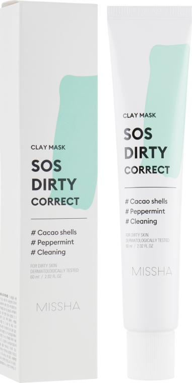 Глиняная маска для лица - Missha SOS Dirty Correct Clay Mask