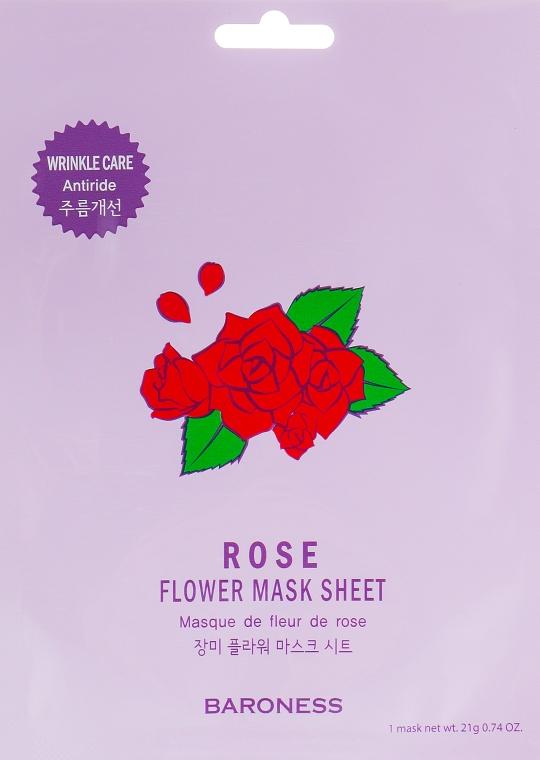 Тканевая маска - Beauadd Baroness Flower Mask Sheet Rose Flower