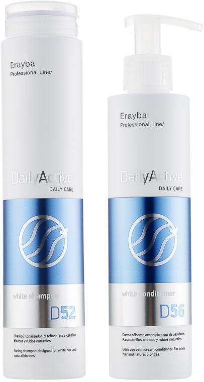 Набор для седых и осветленных волос - Erayba White Factor Set (sh/250ml + con/200ml)