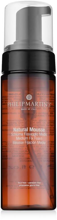 Натуральная пена для волос средней фиксации - Philip Martin's Natural Mousse Medium Fix Foam