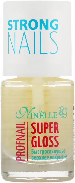 Быстросохнущее верхнее покрытие - Ninelle Super Gloss Profnail