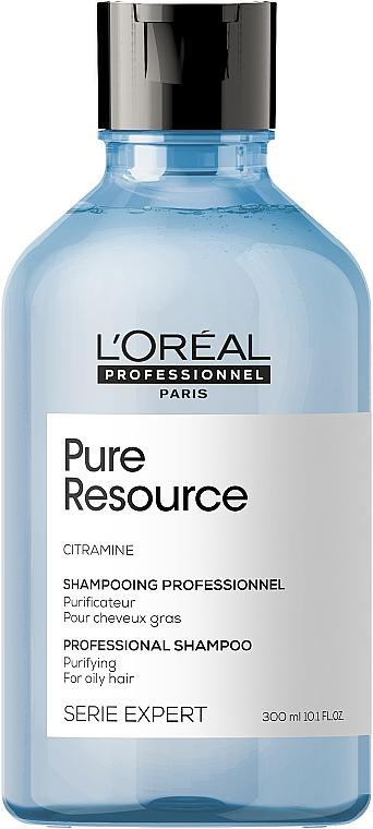 Очищающий шампунь для склонных к жирности волос - L'Oreal Professionnel Serie Expert Pure Resource Shampoo