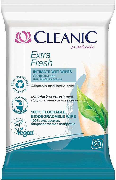 Салфетки для интимной гигиены, 20шт - Cleanic Extra Fresh Wipes