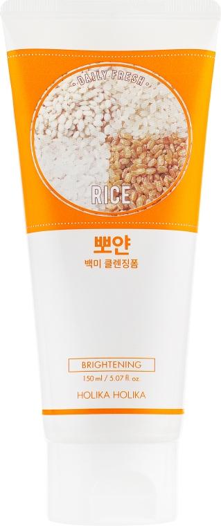 Очищающая пенка - Holika Holika Daily Fresh Rice Cleansing Foam