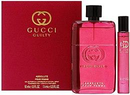 Духи, Парфюмерия, косметика Gucci Guilty Absolute Pour Femme - Набор (edp/90ml + edp/mini/7,4ml)