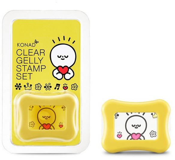 Штамп для стемпинга прозрачный, желтый - Konad Clear Jelly Stamp