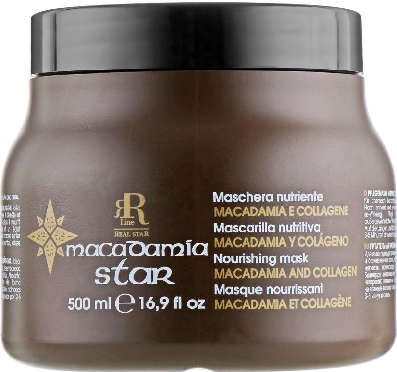 Маска для волос с маслом макадамии и коллагеном - RR Line Macadamia Star