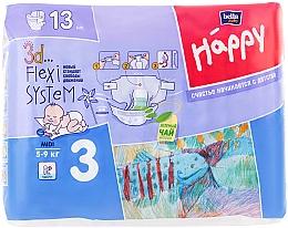 """Духи, Парфюмерия, косметика Детские подгузники """"Happy"""" Midi 3 (5-9 кг, 13 шт) - Bella Baby"""
