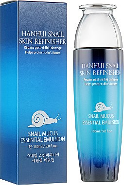 Увлажняющая эмульсия от морщин с муцином улитки, гиалуроновой кислотой и коллагеном - Hanhui Snail Skin Refinisher Emultion