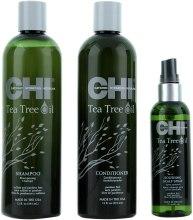 Набор для волос «Чайное дерево» - CHI Tea Tree Oil Calming Cleanse Trio (shm/355ml + cond/355ml + spray/89ml) — фото N1