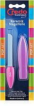 Духи, Парфюмерия, косметика Керамическая пилка в чехле трехсторонняя, розовая - Credo Solingen Pop Art