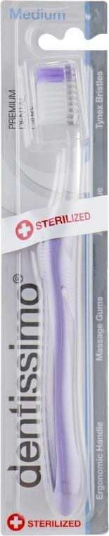 Зубная щетка с щетинками средней жесткости, фиолетовая - Dentissimo Medium