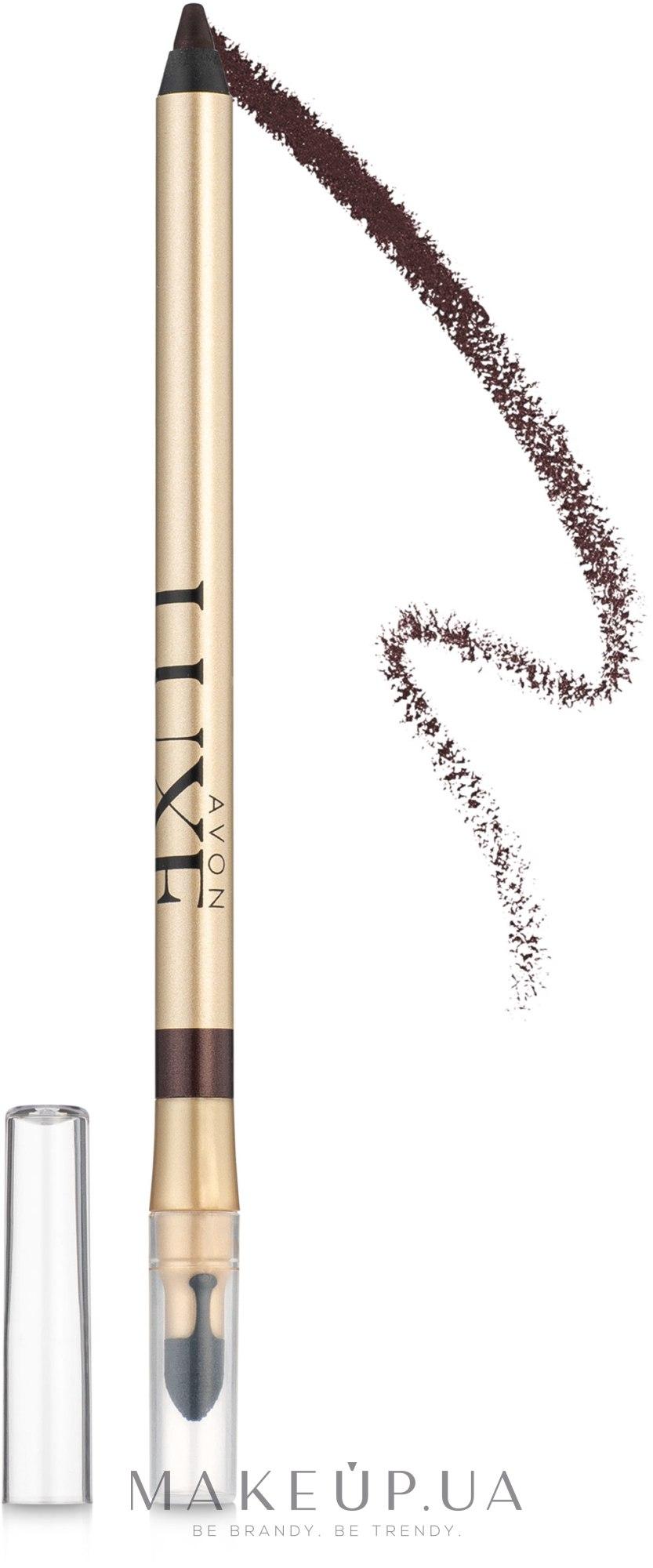 Карандаш для глаз - Avon Luxe Soft Silk Eyeliner — фото Berry Velvet