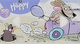 """Парфумерія, косметика Хустинки паперові універсальні двошарові """"Собака"""" - Bella Baby Happy"""