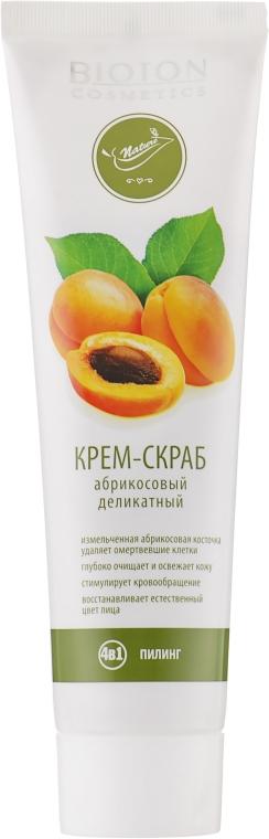 Абрикосовый крем-скраб деликатный - Bioton Cosmetics Nature Face Cream Scrub