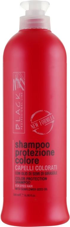 Шампунь для защиты цвета с экстрактом подсолнечника - Black Professional Line Colour Protection Shampoo