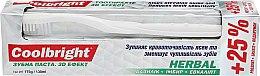 Парфумерія, косметика Набір лікувальний, білий - Coolbright Herbal (toothpaste/130ml + toothbrush/1pcs)